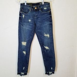 Blank NYC Ludlow Ripped Crop Girlfriend Jeans